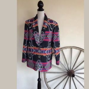 PENDLETON Wool Southwestern Indian Blanket Jacket